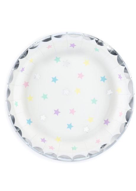vaisselle jetable, assiettes anniversaire, assiettes babyshower, décorations anniversaires, décorations babyshower, Vaisselle Etoiles de Licorne, Assiettes