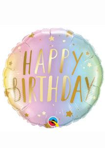 ballon hélium, ballon anniversaire, ballon aluminium, ballons hélium, Ballon Anniversaire, Dégradé Pastel, en Aluminium