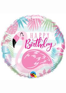 ballon hélium, ballon anniversaire, ballon aluminium, ballons hélium, Ballon Anniversaire, Flamant Rose, en Aluminium