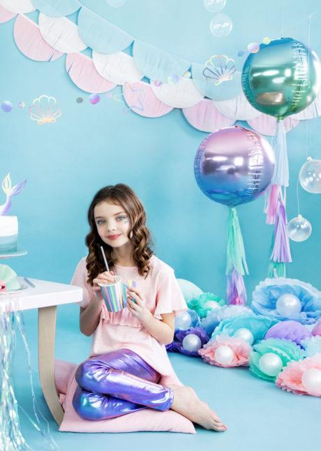 ballon boule, ballon hélium, ballon mylar, ballon licorne, Ballon Boule Dégradé Bleu Rose, Globe Aluminium