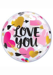 ballon bubble, ballon saint Valentin, ballon love, Ballon Bubble Transparent, Love You