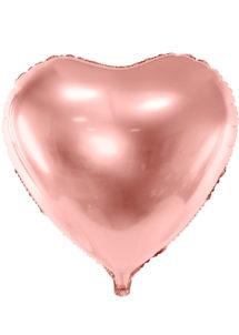 ballon coeur, ballon hélium, ballon aluminium, ballon saint valentin, ballons coeurs rose gold, Ballon Coeur Rose Gold, 61 cm, en Aluminium