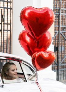 ballon coeur, ballon hélium, ballon aluminium, ballon saint valentin, ballons coeurs rouges, Ballon Coeur Rouge, 61 cm, en Aluminium