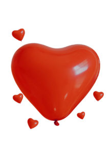 ballons coeurs rouges géants, gros ballons coeurs, ballons coeurs rouges en latex, Ballon Coeur Rouge, en Latex, 45 cm x 3