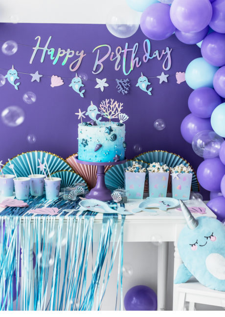ballon poisson, ballon hélium, ballon aluminium, ballon mylar, ballon enfant, Ballon Narval, Licorne des Mers