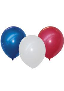 ballon hélium, ballons france, ballons tricolores, ballons bleu blanc rouge, décorations France, décorations supporter, Ballons Tricolores Bleu Blanc Rouge, en Latex, x 25
