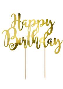 cake topper, décorations gateau, déco pour gâteau, Décoration Gâteaux, Cake Topper Anniversaire, Doré