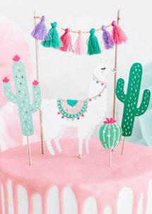 decorations gateaux, cake topper, décorations pour gateaux anniversaire, Décoration Gâteaux, Pics Apéro, Cactus