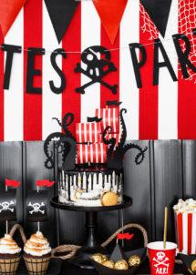cake topper, decorations gâteaux, décorations gâteaux pirates, thème pirates, Décoration Gâteaux, Pics Pirates Party