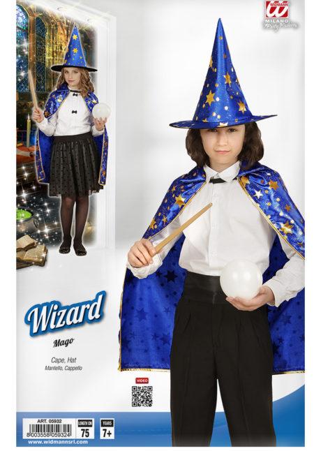 cape de magicien enfant, cape et chapeau magicien enfants, Cape + Chapeau de Magicien, Fille et Garçon