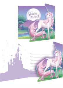 cartes invitations licornes, invitations licornes anniversaire, anniversaire licorne, Cartes d'Invitations Licorne Magique