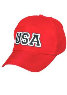 casquette usa, casquette états unis, casquette rouge, casquette américaine, Casquette Rouge USA