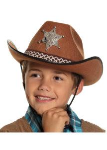 chapeau cow-boy enfant, chapeau cowboy garçon, Chapeau de Cowboy Shérif, Marron, Enfant