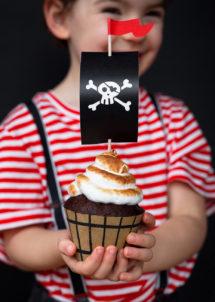 cupcake topper, decorations gâteaux, décorations gâteaux pirates, thème pirates, Décoration Gâteaux, Pics Apéro, Pirates Party