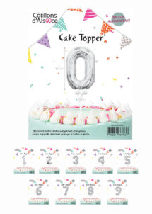 décoration gateau, cake toppers, ballons chiffres, Décoration Gâteau, Cake Topper, Ballons 0 à 9 Argent