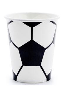 vaisselle foot, gobelets foot, décorations foot gobelets en carton, vaisselle football, Vaisselle Ballon de Foot, Gobelets