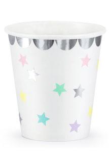 vaisselle jetable, gobelets anniversaires, gobelets babyshower, gobelets étoiles, Vaisselle Etoiles de Licorne, Gobelets