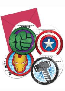 cartes invitations anniversaire, invitations anniversaire Avengers, anniversaire Avengers, Cartes d'Invitations Avengers Mighty