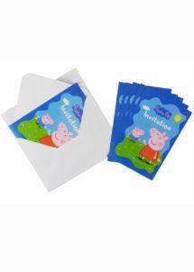 cartes invitations Peppa pig, invitations Peppa pig anniversaire, invitations anniversaires enfant, Cartes d'Invitations Peppa Pig