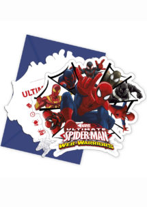 invitations Spiderman, cartes invitations Spiderman, cartes invitations anniversaire, Cartes d'Invitations Spiderman