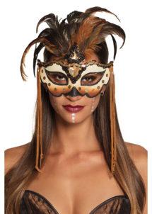 masque à plumes, loup à plumes, masque vaudou, masque vénitien, Loup à Plumes, Mamba