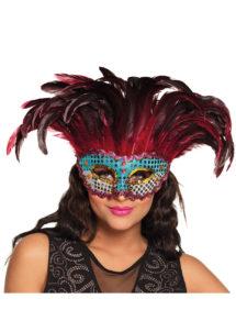masque carnaval de rio, masque à plumes, loup à plumes, loup carnaval paillettes, Loup Carnaval de Rio, Phoenix Plumes