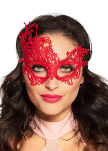 loup dentelle, masque en dentelle, Loup Dentelle Arabesque, Rouge