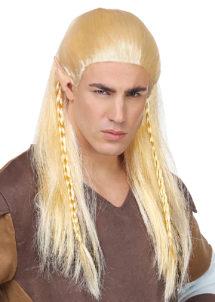 perruque elfe, perruque blonde homme, perruque lutin, Perruque d'Elfe et d'Archer, Blonde