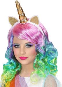 perruque licorne enfant, perruque multicolore pour enfants, perruque de licorne pour fille, Perruque de Licorne, Fille