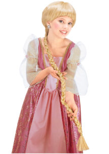 perruque de princesse, perruque longue tresse, perruque longue natte, Perruque de Princesse Médiévale, Fille