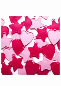 poids ballon hélium, lest pour ballon, Poids pour Ballon Hélium, Lest Rose, Etoiles et Coeurs