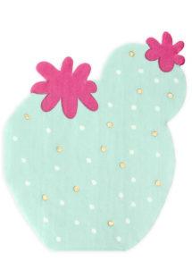 serviettes cactus, serviettes anniversaire thème Mexique,serviettes vert menthe, Vaisselle Cactus, Serviettes Cactus