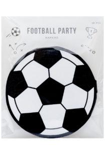 serviettes foot, décorations foot, vaisselle foot, thème football, Vaisselle Ballon de Foot, Serviettes