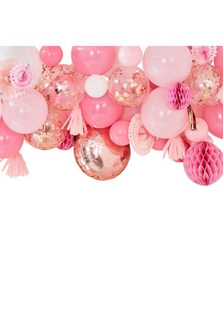 arche de ballons, kit décorations ballons, décorations ballons, ballons baudruche, ballons hélium, décorations roses, ginger ray, 1 Kit Décor de Ballons et Rosaces Roses, Kit Complet
