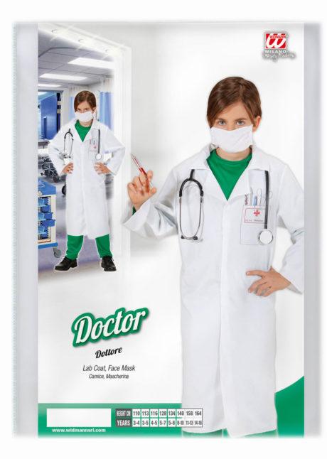 déguisement médecin enfant, blouse blanche enfant, costume blouse chirurgien enfant, Blouse Blanche avec Masque, Garçon