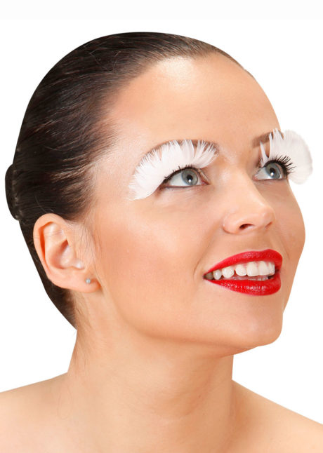 faux cils plumes, faux cils blancs, Faux Cils, Plumes Blanches