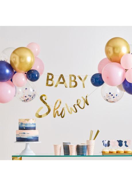 kit décorations babyshower révélation, décorations baby shower, ginger ray, 1 Kit Décorations Baby Shower Révélation, Ballons et Guirlande