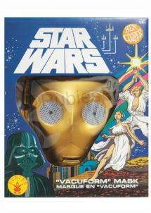 masque Star Wars C3PO, masque de starwars, masque de Star Wars, Masque de C3PO, Vacuforme, Star Wars