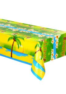 nappe jetable, nappe en plastique, nappe Hawaï, décorations hawaïennes, Nappe Hawaï Aloha, en Plastique