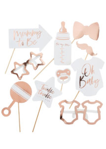 kit Photo Booth baby shower, Photo Booth pour baby shower, ginger ray, Kit Photo Booth Baby Shower, Oh Baby Rose Gold