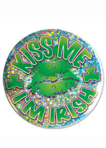 badge saint Patrick, accessoires saint Patrick, badge kiss me, Badge Saint Patrick, GM