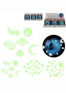décorations phosphorescentes, petits cadeaux à pinata, jouets à pinatas, Décors Phosphorescents, Etoiles et Planètes