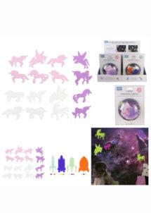 décorations phosphorescentes, petits cadeaux à pinata, jouets à pinatas, Décors Phosphorescents, Licornes et Fusées