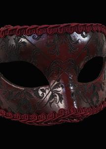 masque vénitien, masque carnaval de Venise, loup vénitien, masque vénitien, masque carnaval de venise, Vénitien Arlecchino Broccato, Rouge