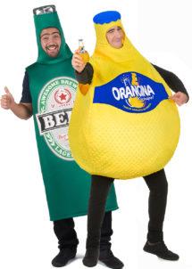déguisement couple, déguisements duo, déguisement orangina, déguisement bouteille de bière, Déguisements Couple, Bière et Orangina