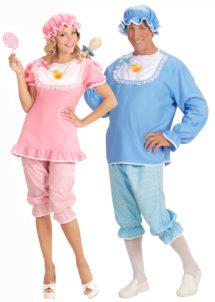 déguisements couples, déguisements couples bébés adultes, costume bébé pour adulte, Déguisements Couple, Bébé Rose et Bébé Bleu