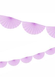 guirlande éventail, guirlande en papier, guirlande rosaces, guirlande parme, Guirlande Papier, Eventail Parme