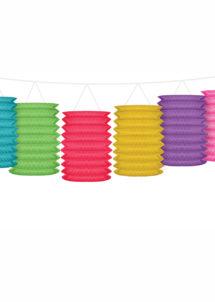 guirlande lampions, lampions multicolores, décorations anniversaire, Guirlande Lampions Multicolores
