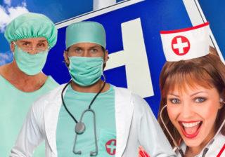 Soirée déguisement déco Infirmières et Médecins