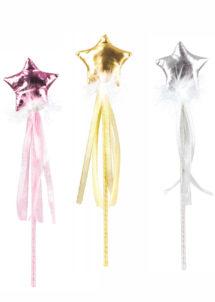 baguette magique, baguette de fée, baguette de princesse, Baguette Magique de Fée, Etoiles et Rubans